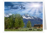 Outdoor Thank You Card Template