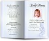 angela blue Funeral Program Template