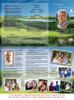 Golfer DIY Funeral Tri Fold Brochure Template inside view