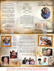 History DIY Funeral Tri Fold Brochure Template inside view