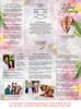 Pearls DIY Legal Funeral Tri Fold Brochure Template inside view