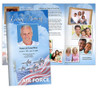 Air Force Large Tabloid Trifold Funeral Brochures Template