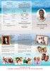 Caribbean Large Tabloid Trifold Funeral Brochures Template inside view