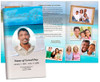 Caribbean Large Tabloid Trifold Funeral Brochures Template