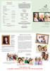 Contemporary Large Trifold Funeral Brochures Template inside view