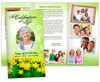 Daffodils Large Trifold Funeral Brochures Template