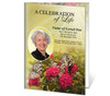 Bouquet A4 Program Funeral Order of Service Template