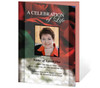 Elegance A4 Funeral Order of Service Template