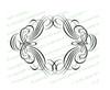 Allegro Elegant Vector Flourish Border Template