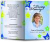 starry blue Funeral Program Template