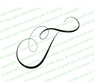 Monogram Letter T
