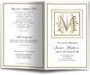 Funeral Gold M Monogram Template