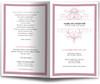 Sachet Funeral Program Monogram Template