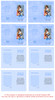 Blue Folded DIY Pet Memorial Card Template inside view