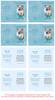 Teal Folded DIY Pet Memorial Card Template inside view