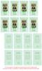 Green Folded DIY Pet Memorial Card Templates inside view