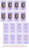Purple DIY No Fold Pet Memorial Card Templates inside view