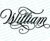 William Name Word Art