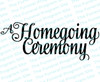 A Homegoing Ceremony Funeral Program Title