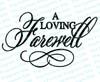 A Loving Farewell Funeral Program Title