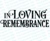 In Loving Remembrance Funeral Program Title