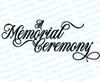 A Memorial Ceremony Funeral Program Title