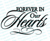 Forever In Our Hearts Funeral Program Title