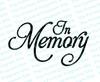 In Memory Funeral Program Title