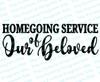 Homegoing Service of Our Beloved Funeral Program Word Art Title