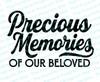 Precious Memories of Beloved Elegant Funeral Program Title