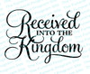 Received Into The Kingdom Funeral Program Title