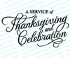 Service of Celebration Thanksgiving Funeral Program Titles