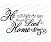 He Will Light The Way Bible Verse Word Art