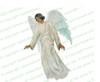 Devout Angel Funeral Clipart dark skin