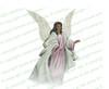 Faith Angel Vector Funeral Clipart dark skin