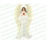 Prayerful Angel Funeral Clipart light skin