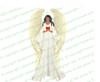 Prayerful Angel Funeral Clipart dark skin