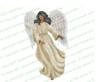 Spirit Angel Funeral Clipart dark skin