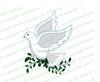 White Dove Funeral Clipart Design