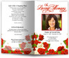 diva red funeral program template
