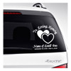 Hearts In Memory Car Decals back view