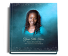 Devotion funeral guest book with photo