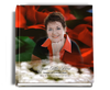 Elegance funeral guest book with photo