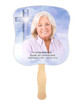 Adoration Cardstock Memorial Church Fans With Wooden Handle front photo