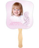 Angela Cardstock Memorial Church Fans With Wooden Handle front photo