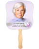 Beloved Cardstock Memorial Church Fans With Wooden Handle front photo