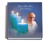 Enlighten funeral guest book with photo