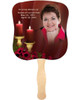 Candlelight Memorial Church Fans With Wooden Handle front photo