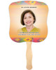 DeColores Cardstock Memorial Church Fans With Wooden Handle front photo