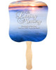 Dusk Cardstock Memorial Church Fans With Wooden Handle front no photo